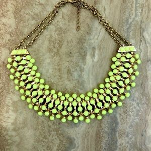 Neon Yellow Gold Statement Necklace